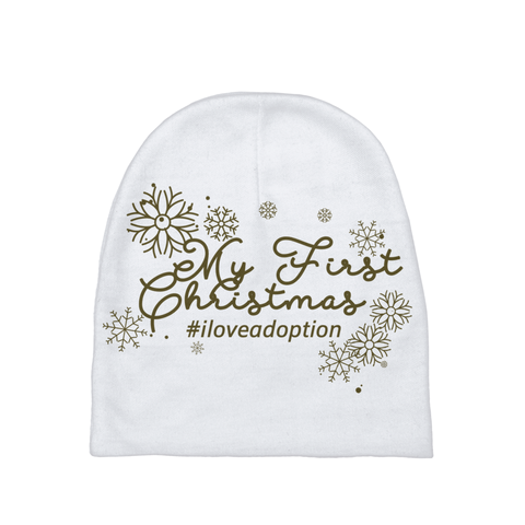 My First Christmas Baby Beanie | Adoption Gifts, Baby Clothing and Apparel