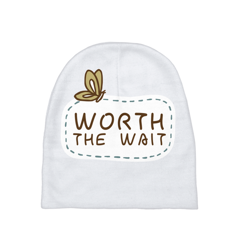 Worth the Wait Baby Beanie | Adoption Gifts, Baby Clothing and Apparel