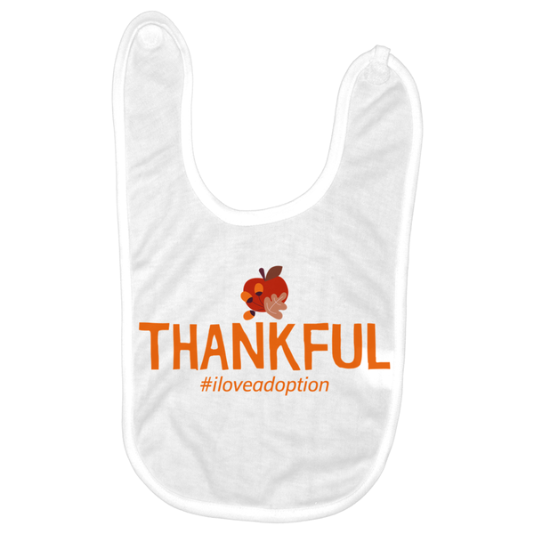 Thankful #iloveadoption (Thanksgiving) Baby Bibs | Adoption Gifts, Baby Clothing and Apparel