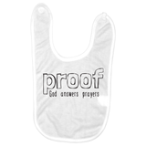 Proof God Answers Prayers Baby Bib | Adoption Gifts, Baby Clothing and Apparel