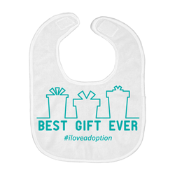 Best Gift Ever (Christmas) Baby Bib | Adoption Gifts, Baby Clothing and Apparel