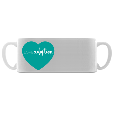 love adoption heart mug