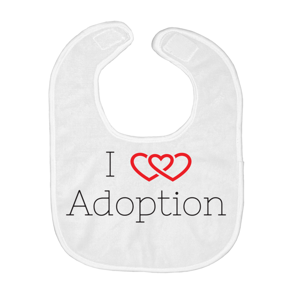I Love Adoption Baby Bib | Adoption Gifts, Baby Clothing and Apparel