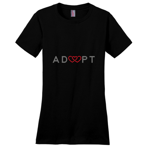 Black triple heart adoption shirt