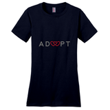 navy triple heart adoption shirt