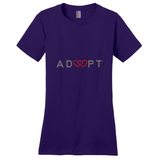 purple triple heart adoption shirt