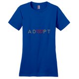 royal blue triple heart adoption shirt