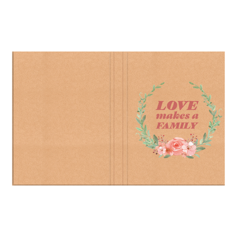 Love Makes a Family Hardcover Journal | Adoption Gifts, Adoption Journals