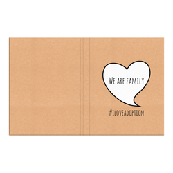 We are Family Hardcover Journal | Adoption Gifts, Adoption Journals