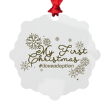 My First Christmas Metal Ornament | Adoption Gifts, Adoption Ornaments