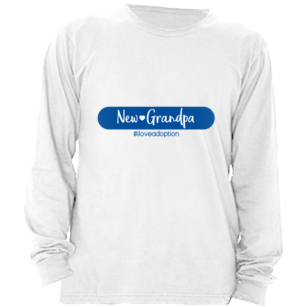 NEW GRANDPA MEN'S LONG SLEEVE SHIRT | ADOPTION GIFTS, CLOTHING & APPAREL