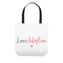 Love adoption tote bag-adoption gifts