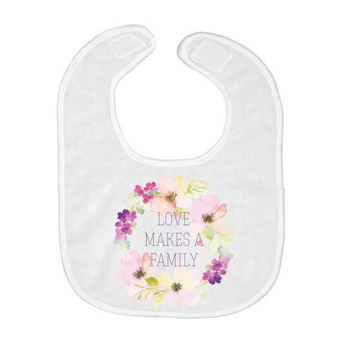 Love Makes a Family Baby Bibs | Adoption Gifts, Baby Clothing and Apparel