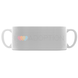 I heart adoption mug