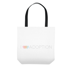 I love adoption tote bag