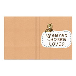 Wanted, Chosen, Loved Hardcover Journal | Adoption Gifts, Journals