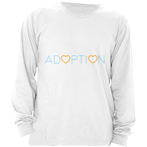 BLUE ADOPTION LONG SLEEVE SHIRT | ADOPTION GIFTS, CLOTHING & APPAREL