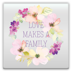 Love Makes a Family Metal Magnet | Adoption Gifts, Metal Magnets