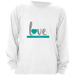 BLUE LOVE LONG SLEEVE SHIRT | ADOPTION GIFTS, CLOTHING & APPAREL