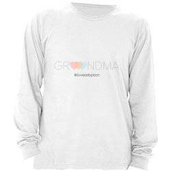 GRANDMA LONG SLEEVE SHIRT | ADOPTION GIFTS, CLOTHING & APPAREL