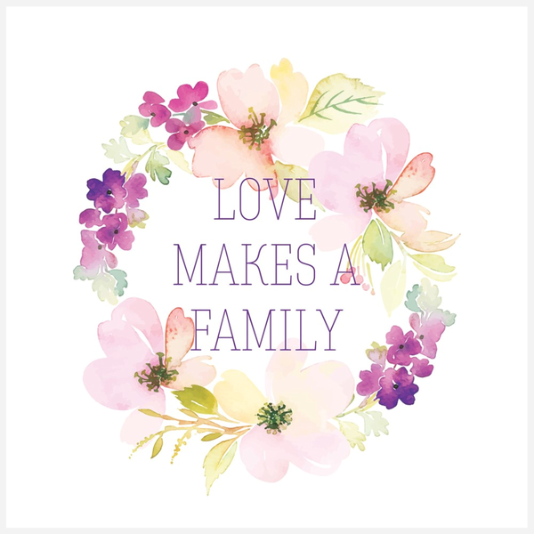 Love Makes A Family Purple Mini Canvas | Adoption Gifts, Canvas Minis