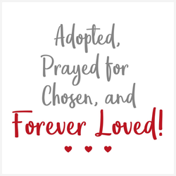 Forever Loved Adoption Mini-Canvas | Adoption Gifts, Canvas Minis