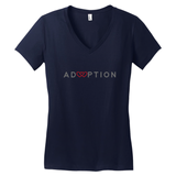 navy adoption v neck shirt