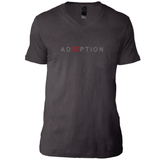 asphalt v-neck adoption shirt