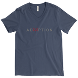 navy v-neck adoption shirt