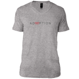 heather v-neck adoption shirt