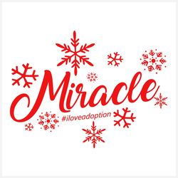 Miracle #iloveadoption Mini-Canvas | Adoption Gifts, Canvas Minis