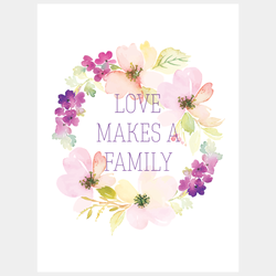 Love Makes a Family, Purple Notebook | Adoption Gifts, Notebooks