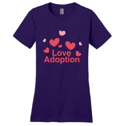 Love Adoption Women's T-Shirt | Adoption Gifts, Clothing & Apparel