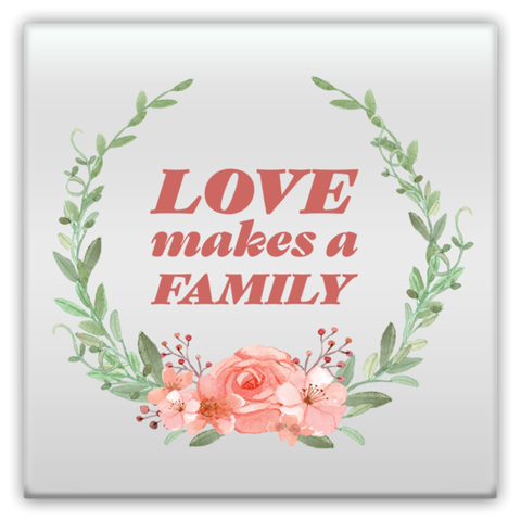 Love Makes a Family Rose | Adoption Gifts, Metal Magnets