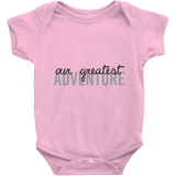 Our Greatest Adventure Onesie | Adoption Gifts, Clothing & Apparel