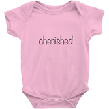 Cherished Onesie | Adoption Gifts, Clothing & Apparel