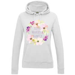 Love Makes a Family Women's Pullover Hoodie | Adoption Gifts, Clothing & Apparel