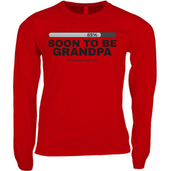 Soon to be Grandpa Men's Long Sleeve Shirt | Adoption Gifts, Clothing & Apparel