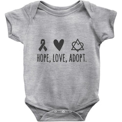 hope, love, adopt onesie