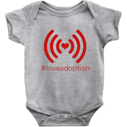 grey i love adoption onesie