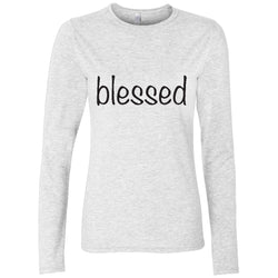 White long sleeve blessed adoption shirt