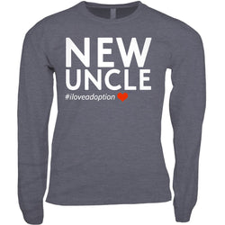 New Uncle Men's Long Sleeve Shirt | Adoption Gifts, Clothing & Apparel