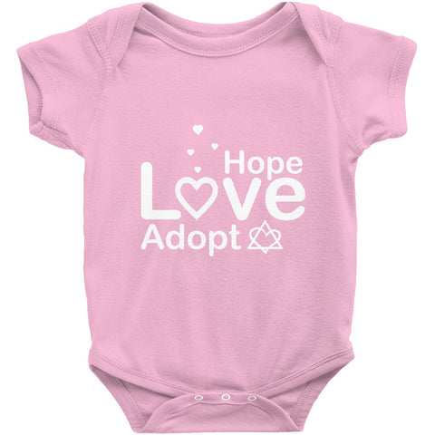 Hope, Love, Adopt Onesie | Adoption Gifts, Clothing & Apparel