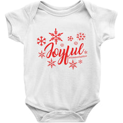 joyful adoption holiday onesie in white