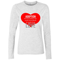 White love adoption long sleeve shirt