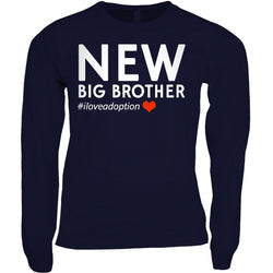 New Big Brother Men's Long Sleeve Shirt | Adoption Gifts, Clothing & Apparel