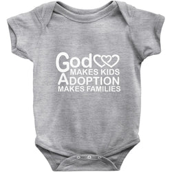 grey God makes kids onesie