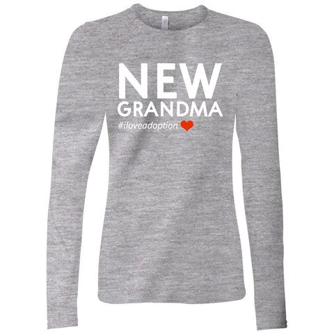 New Grandma Women's Long Sleeve Shirt | Adoption Gifts, Clothing & Apparel