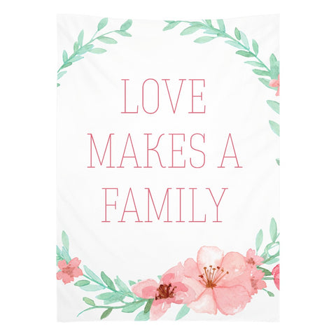 Love Makes a Family Tapestry | Adoption Gifts, Adoption Decor