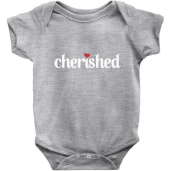 grey cherished adoption onesie